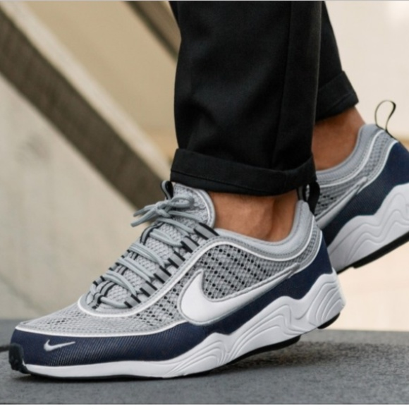 Nike Air Zoom Spiridon '16 navy gray mens size 12